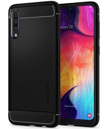 Spigen Rugged Armor Samsung Galaxy A50 Hoesje Matte Zwart Hoesjes