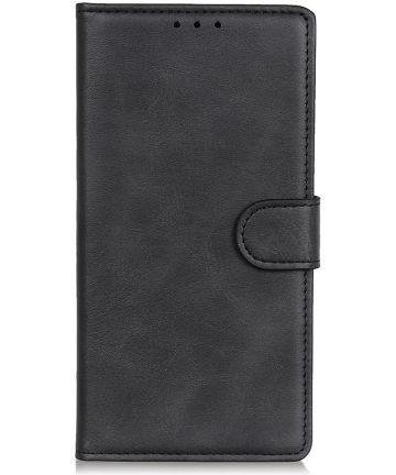 Samsung Galaxy A10 Matte Portemonnee Hoesje Zwart Hoesjes