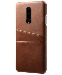OnePlus 7 Pro Hoesje met Kaarthouder Bruin