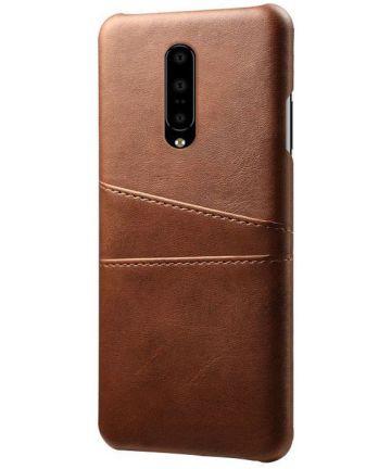 OnePlus 7 Pro Hoesje met Kaarthouder Bruin Hoesjes