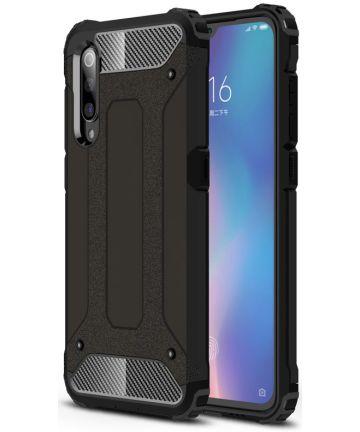 Xiaomi Mi 9 Hoesje Hybride Back Cover Zwart Hoesjes