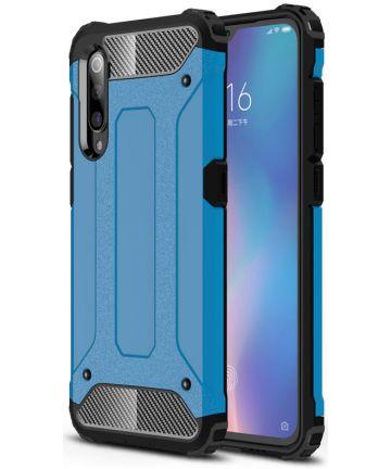 Xiaomi Mi 9 Hybride Hoesje Blauw Hoesjes