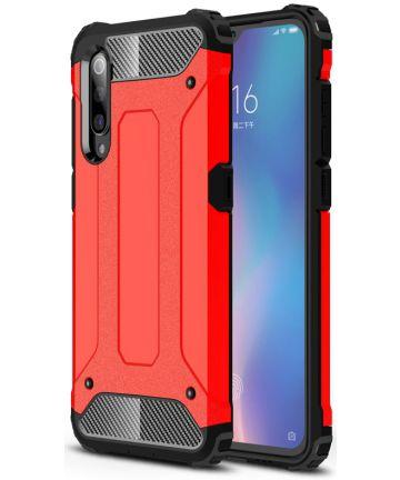Xiaomi Mi 9 Hybride Hoesje Rood Hoesjes