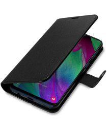 Spigen Wallet S Book Case Samsung Galaxy A40 Zwart