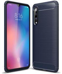 Xiaomi Mi 9 Geborsteld TPU Hoesje Blauw
