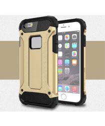 Apple IPhone 6/6S Hoesje Shock Proof Hybride Back Cover Goud