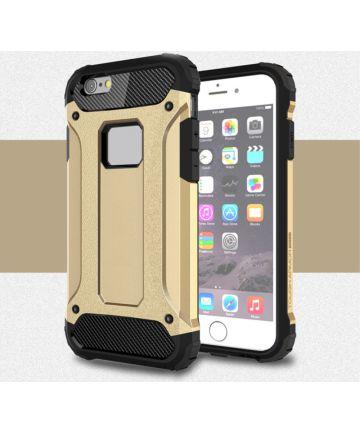 Apple IPhone 6/6S Hoesje Shock Proof Hybride Back Cover Goud Hoesjes