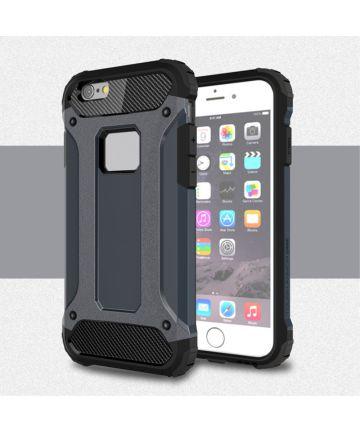 Apple IPhone 6/6S Hoesje Shock Proof Hybride Back Cover Donker Blauw Hoesjes