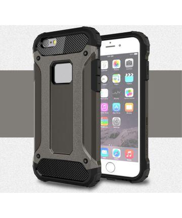 Apple iPhone 6/6S Hoesje Shock Proof Hybride Back Cover Coffee Hoesjes