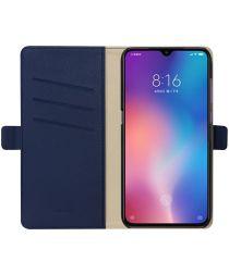 Xiaomi Mi 9 Hoesje Luxe Portemonnee Book Case Blauw
