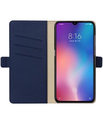 Xiaomi Mi 9 Hoesje Luxe Portemonnee Book Case Blauw Hoesjes