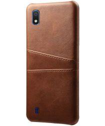 Samsung Galaxy A10 Kunstleren Back Cover met Kaarthouder Bruin