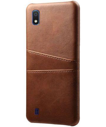 Samsung Galaxy A10 Kunstleren Back Cover met Kaarthouder Bruin Hoesjes