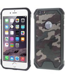 Apple iPhone 6(S) Camouflage Hoesje Groen