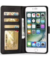 Apple iPhone 6(S) Portemonnee Bookcase Hoesje Splitleer Zwart