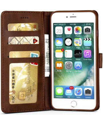 Apple iPhone 6(S) Portemonnee Bookcase Hoesje Splitleer Bruin Hoesjes
