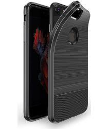 Dux Ducis Mojo Geborsteld TPU Hoesje Apple iPhone 6(S) Plus Zwart