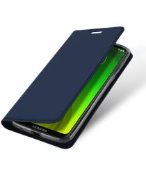 Dux Ducis Premium Book Case Motorola Moto G7 Power Hoesje Blauw