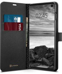 Spigen La Manon Wallet Book Case Samsung Galaxy S10 Zwart