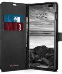 Spigen La Manon Wallet Book Case Samsung Galaxy S10 Plus Zwart