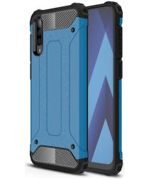 Samsung Galaxy A70 Hoesje Shock Proof Hybride Back Cover Blauw