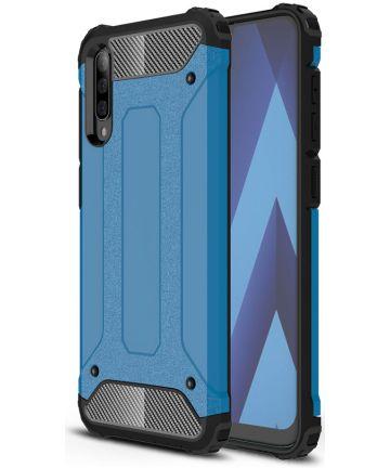 Samsung Galaxy A70 Hoesje Shock Proof Hybride Back Cover Blauw Hoesjes