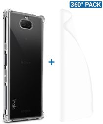 IMAK Sony Xperia 10 Plus Hoesje TPU met Screenprotector Transparant
