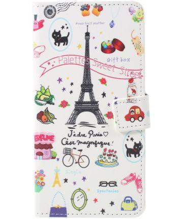 Sony Xperia 10 Portemonnee Hoesje Print Eiffel Tower Hoesjes