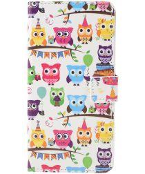 Sony Xperia 10 Portemonnee Hoesje Print Owls