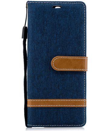 Sony Xperia 10 Jeans Portemonnee Hoesje Blauw Hoesjes