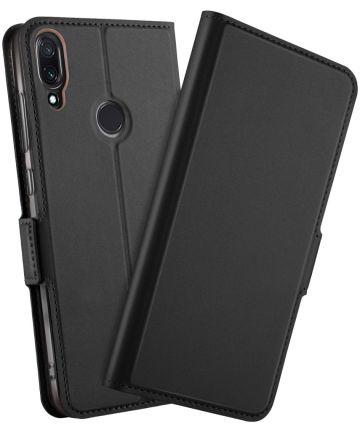 Xiaomi Redmi Note 7 Luxe Portemonnee Hoesje Zwart Hoesjes