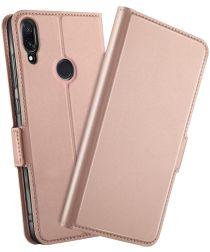Xiaomi Redmi Note 7 Luxe Portemonnee Hoesje Rose Gold
