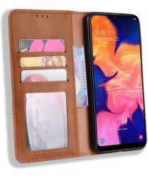 Samsung Galaxy A10 Portemonnee Vintage Hoesje Bruin