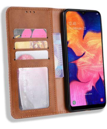 Samsung Galaxy A10 Portemonnee Vintage Hoesje Bruin Hoesjes