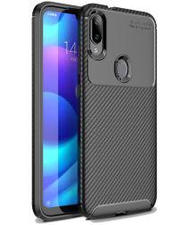 Xiaomi Mi Play Carbon TPU Hoesje Zwart