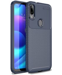 Xiaomi Mi Play Carbon TPU Hoesje Blauw