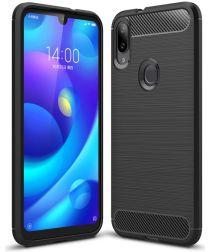 Xiaomi Mi Play Geborsteld TPU Hoesje Zwart