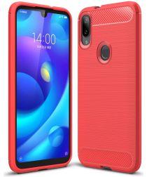 Xiaomi Mi Play Geborsteld TPU Hoesje Rood