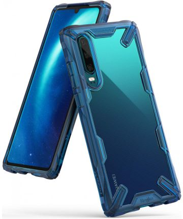 Ringke Fusion X Huawei P30 Hoesje Blauw