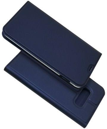Samsung Galaxy S10E Kaarthouder Hoesje Blauw Hoesjes