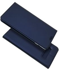 Samsung Galaxy S10 Plus Kaarthouder Hoesje Blauw