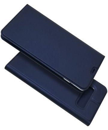 Samsung Galaxy S10 Plus Kaarthouder Hoesje Blauw Hoesjes