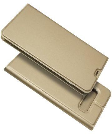Samsung Galaxy S10 Plus Kaarthouder Hoesje Goud Hoesjes