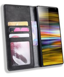 Sony Xperia 10 Vintage Portemonnee Hoesje Zwart