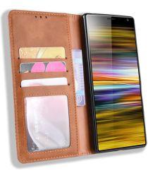 Sony Xperia 10 Vintage Portemonnee Hoesje Bruin