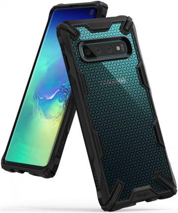 Ringke Fusion X Samsung Galaxy S10 Hoesje Hexagon Zwart