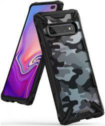Ringke Fusion X Samsung Galaxy S10 Plus Hoesje Camo Zwart