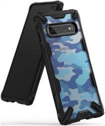 Ringke Fusion X Samsung Galaxy S10 Plus Hoesje Camo Blauw