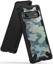 Ringke Fusion X Samsung Galaxy S10 Plus Hoesje Camo Groen