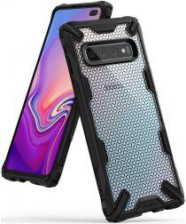 Ringke Fusion X Samsung Galaxy S10 Plus Hoesje Hexagon Zwart
